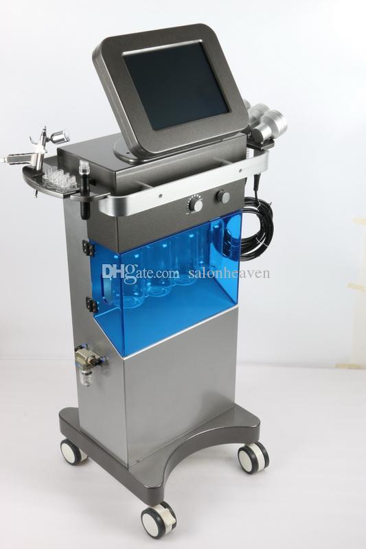 미국 기술 Hydrafacial Hydro Dermabrasion 산소 제트 껍질 7 색 PDT LED 바이오 라이트 테라피 히드라 페이셜 머신 피부 회춘을위한