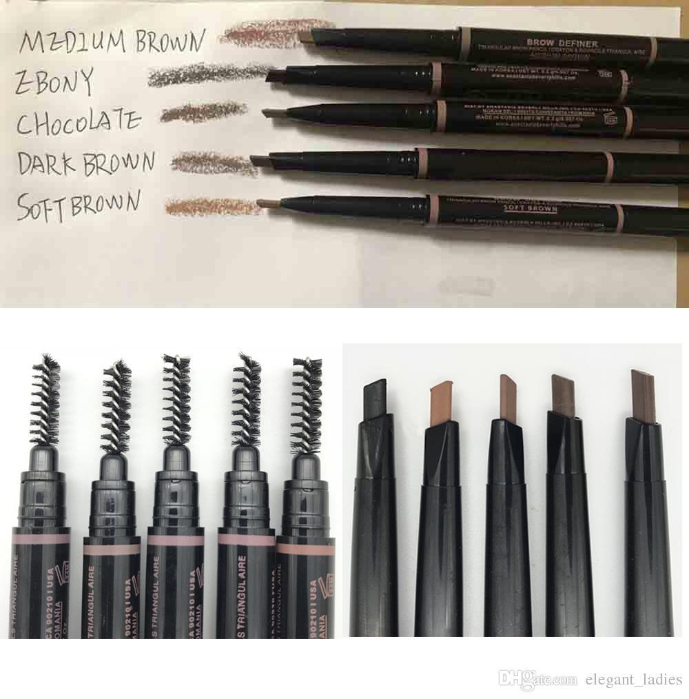 New Makeup Eyebrow Pencil 5 Fashion Color Medium Brown Ebony