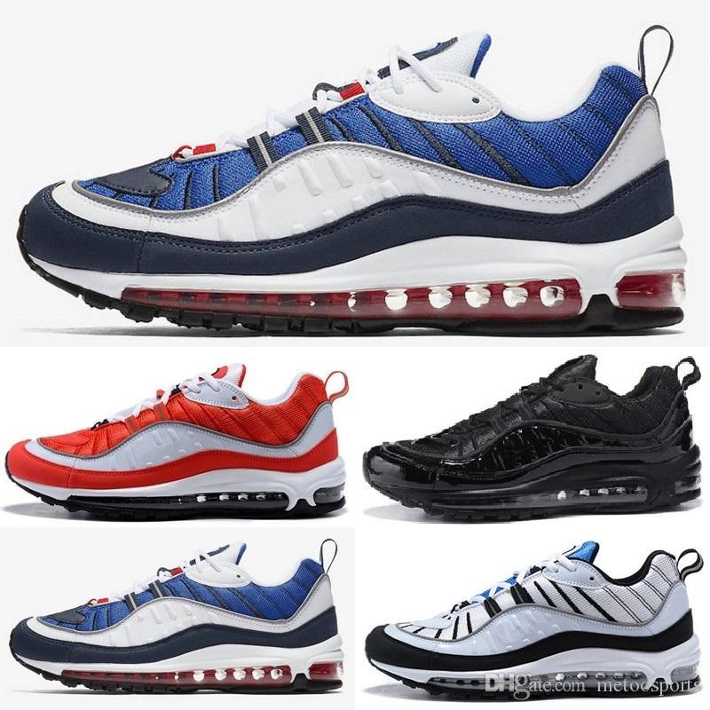 Nike air max airmax 98 shoes nuevos zapatos de hombre de estilo clásico de la manera zapatos deportivos auténticos cojín de aire zapatillas altas