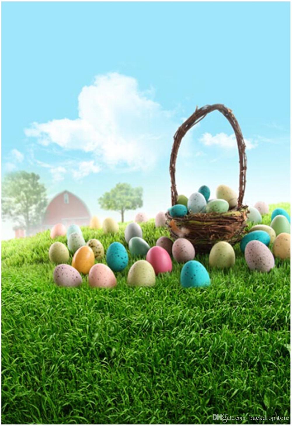 2019 Vinyl Photography Background For Kids Easter Eggs