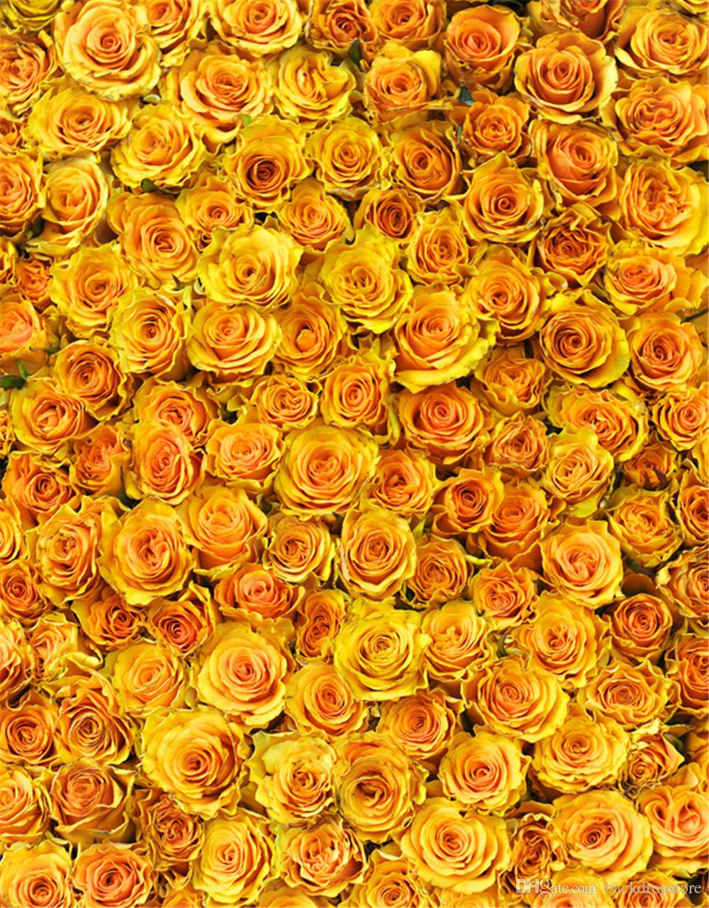 Computer Printed Yellow Roses 3D Photography Backdrops for ...