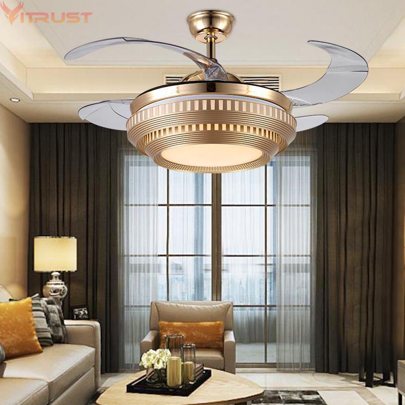 Grosshandel Moderne Led Deckenventilator Licht Lampen Fernbedienung