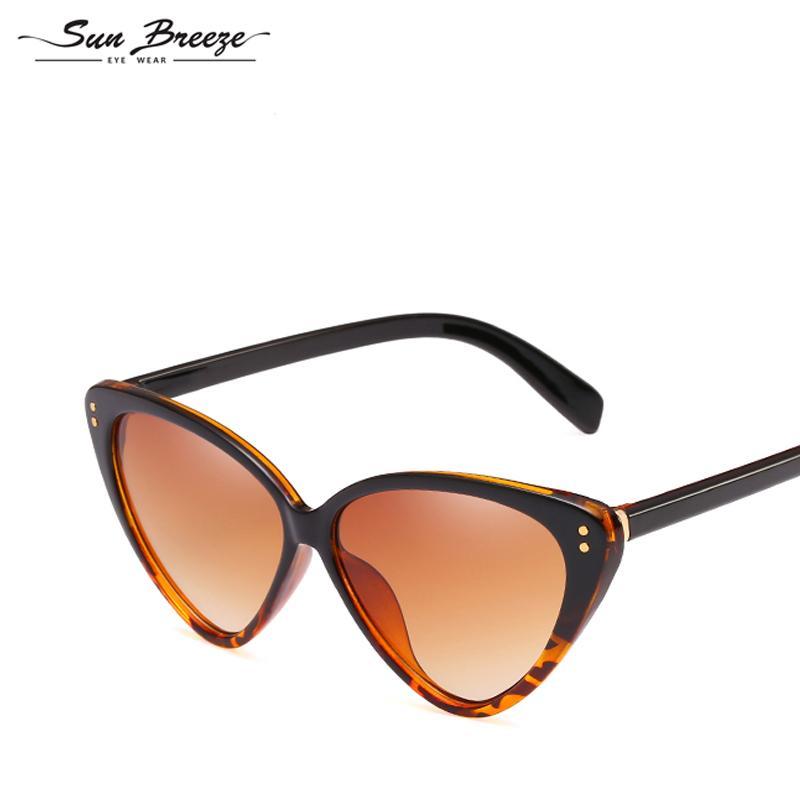 8b95ab72897 High Quality Classic Cat Eye Sunglasses Unisex Vintage Oversized Sun ...