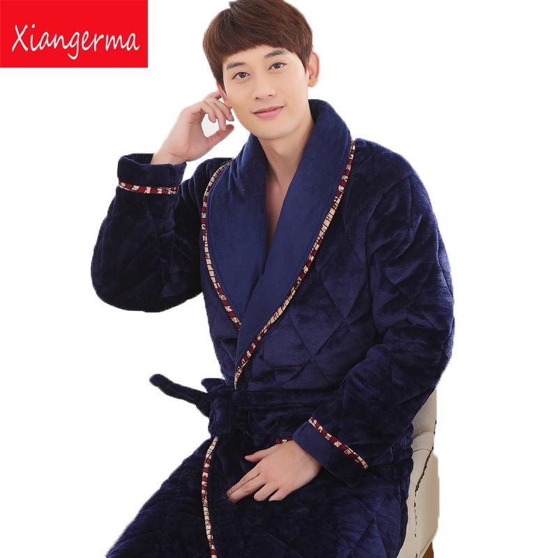 wholesale dealer a457f e4e8d Winter warme dicke Pyjamas Pyjamas Männer pijama masculino Nachtwäsche Mann  Pyjamas Roben Nachtwäsche thermische Bademantel Männer versandkostenfrei