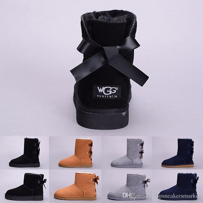 Wgg Winter Women Boots Australia Classic Kneel Ankle Boot Black Grey