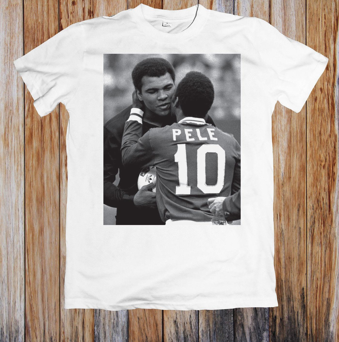 Pele And Muhammed Ali Meet Unisex T-Shirt Casual Funny free shipping Unisex tee gift