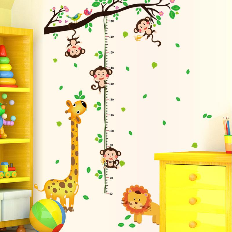 animal parks wall stickers cartoon height stickers children s