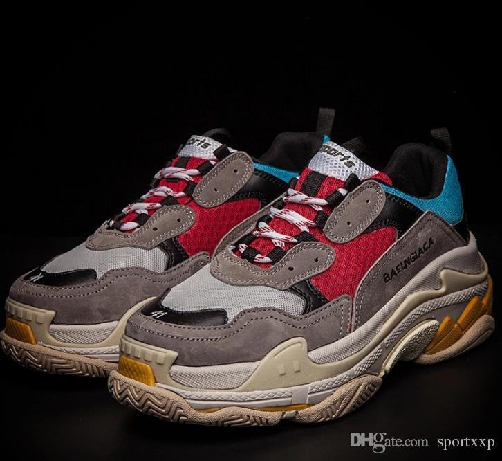 the best attitude 96f38 ffdd1 Compre Triple S Hombres Y Mujeres Botas Retro Vintage Zapatos Para Correr  Zapatos Para Hombre Botas De Calidad Superior De La Moda Zapatillas De  Deporte ...