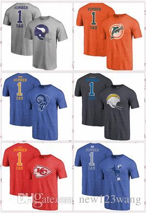 big sale 87c8c 35822 Pro Line by Fanatics Branded Kansas City Chiefs Los Angeles Rams  Indianapolis Colts Miami Dolphins Orange Greatest Dad Retro T-Shirt