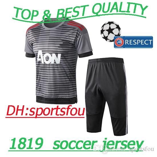 356a80233 Thai Premier League 18 19 Man Soccer Jerseys POGBA Jersey Cfootball ...