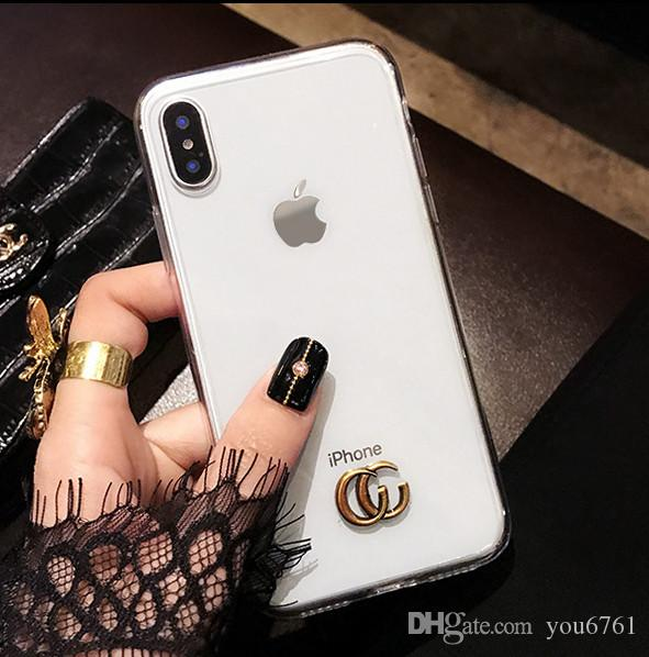 best service 9ea93 e0ff4 Simple X mobile phone case new i7plus personality creative anti-fall 6s  silicone package 8p popular logo female manufacturers direct