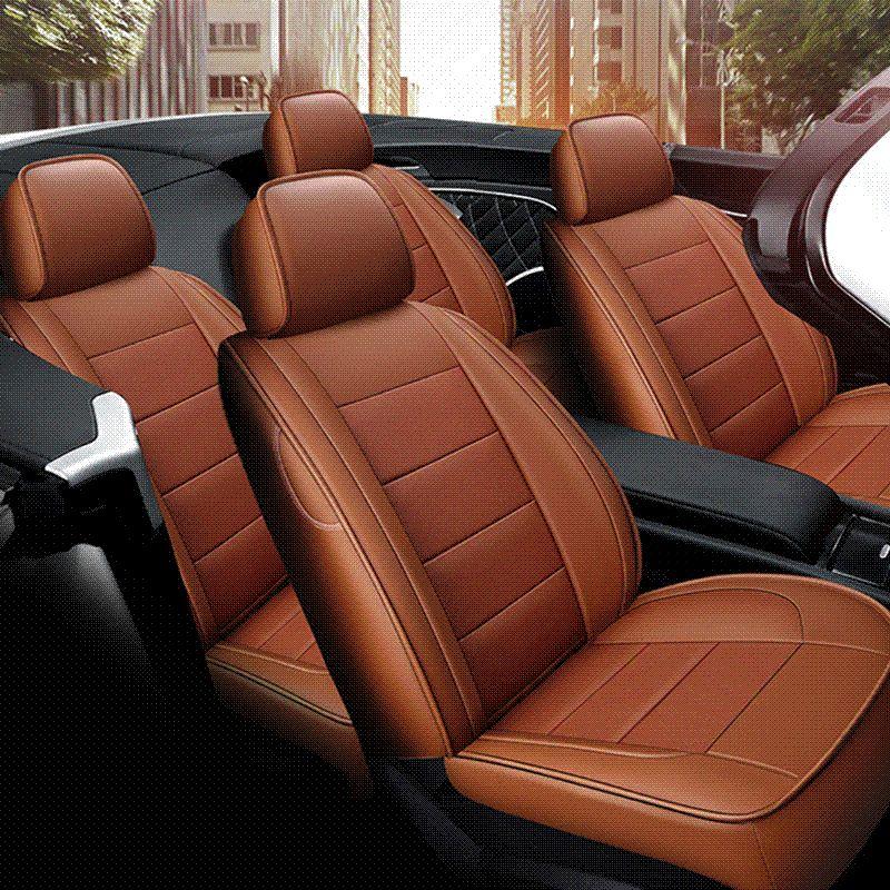 Car Wind Automovil Leather Seat Cover For Toyota Solaris RAV4 Skoda Rapid Bmw E46 Land Cruiser Prado 150 Kia Accessories Protectors