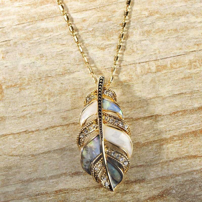 Top Qualität Mix Farbe Abalone Shell Schmuck Sets Für Frauen Gold Farbe Blätter Anhänger Halskette Ohrringe Ring Hochzeit Bijoux