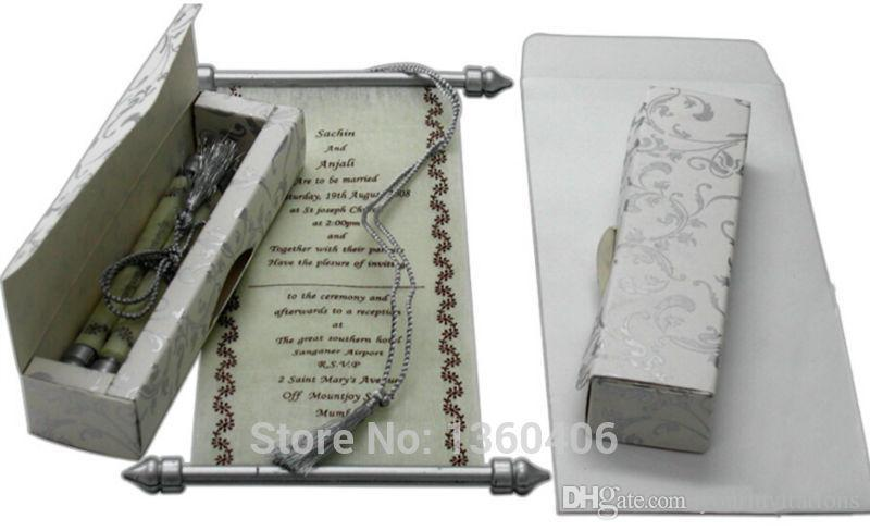 scroll wedding invitations card wholesale party wedding white luxury