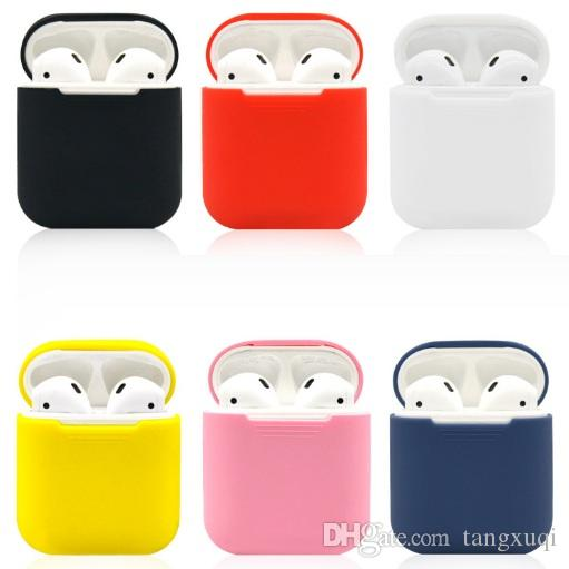 quality design 7f0a3 d5057 Portable Silicone Skin Shockproof For Apple Airpods Skins Airpod  Accessories Protective Cover Red Earphone Air Pods Case Replacement i7