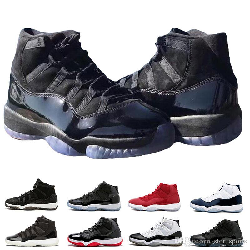 1e72d4d0411 11 Prom Night Cap And Gown Gym Red Space Jam Win Like 96 11s Men Basketball  Shoes Athletic Sports Sneakers Size 5.5 13 Kevin Durant Basketball Shoes ...