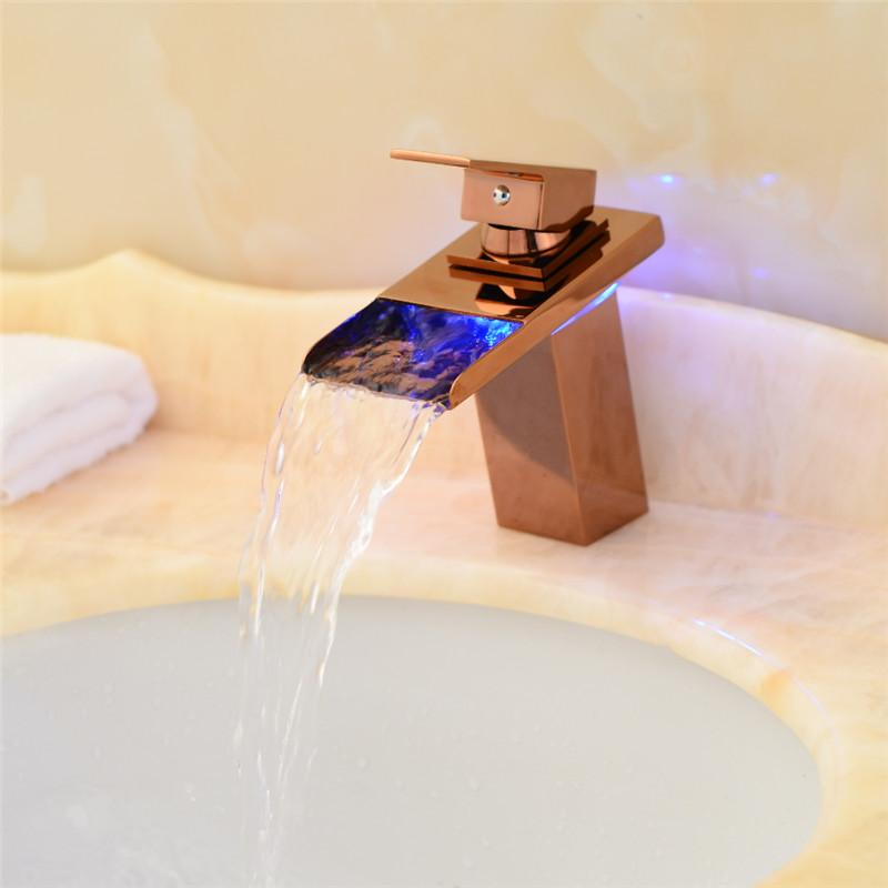 Best Hot Sale Waterfall Bathroom Faucet Deck Mounted Brass Vanity ...