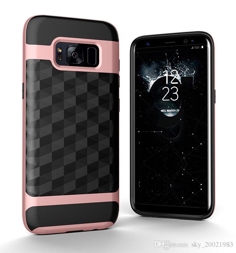 Coque antichoc 3D Prism Pour Samsung s8 funda, couverture de blindage hybride robuste