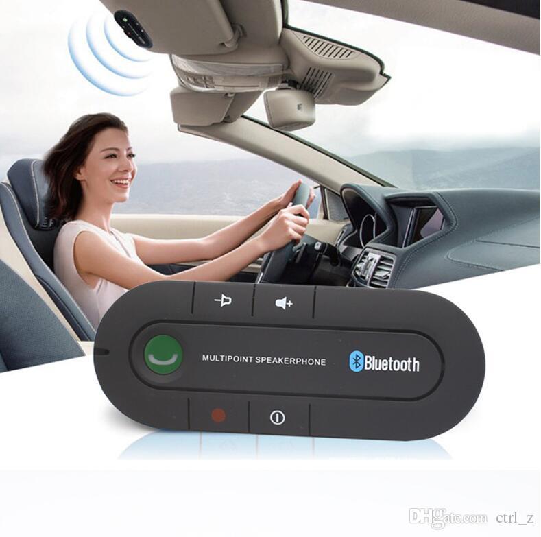 Smartphones Dual Phones Connection Handsfree Wireless Bluetooth Handsfree Car Kit Car sun visor car Bluetooth handsfree call 2.0