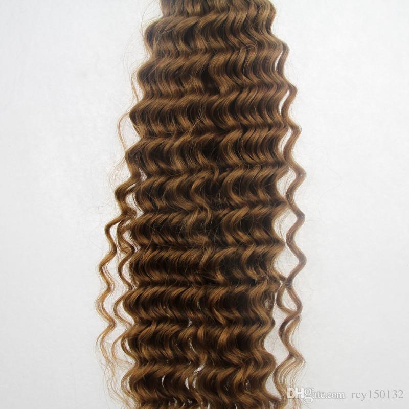 O Weave brasileiro do cabelo da onda profunda empacota o cabelo de Remy que tece a extensão do cabelo humano de /