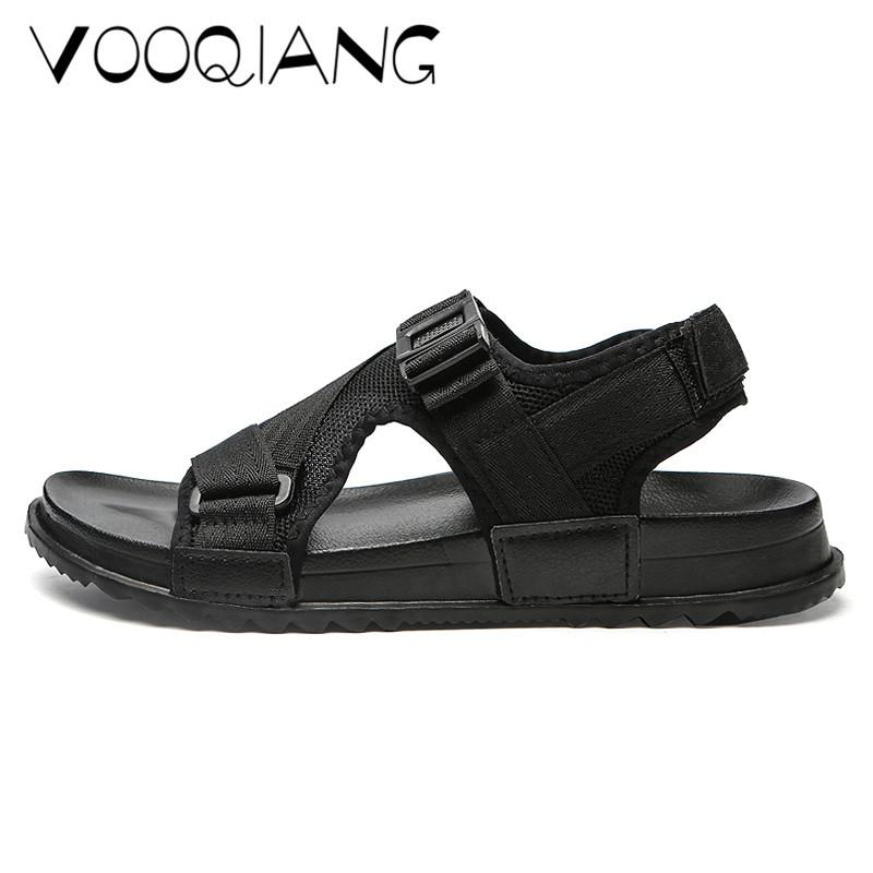2fc09bab66dc7 Man Beach Sandals Summer Men S Outdoor Shoes Roman Men Casual Buckle Unisex Lovers  Shoe Flip Flops Large Size 46 Slippers Flats Prom Shoes Silver Shoes From  ...