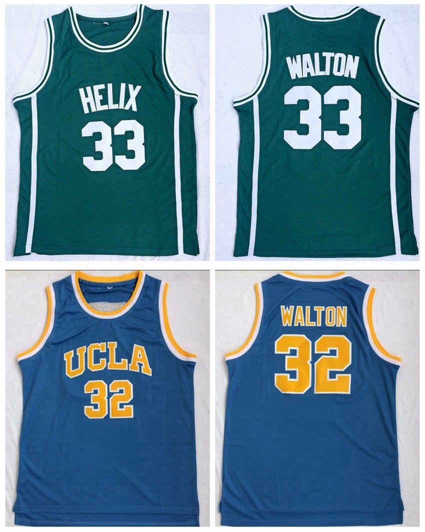 e3f1ec65162b 2019 Mens Green  33 Bill Walton Helix High School Basketball Jersey Cheap  UCLA 32 Bill Walton Stitched College Basketball Shirts S XXL From Tryones
