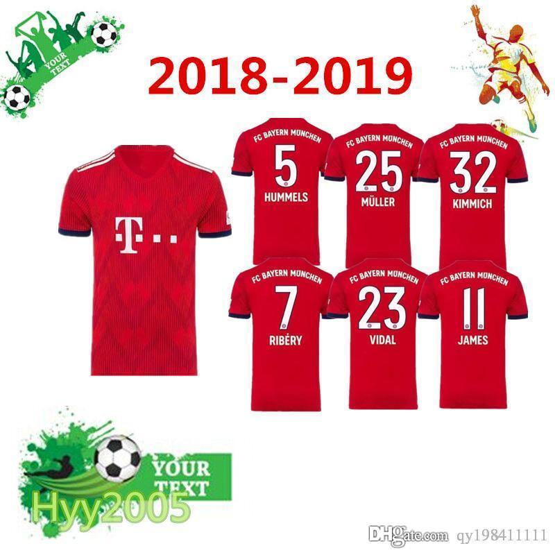 Top Thai Edition JAMES RODRIGUEZ Soccer Jerseys 2018-19 LEWANDOWSKI ... 468f5bb71