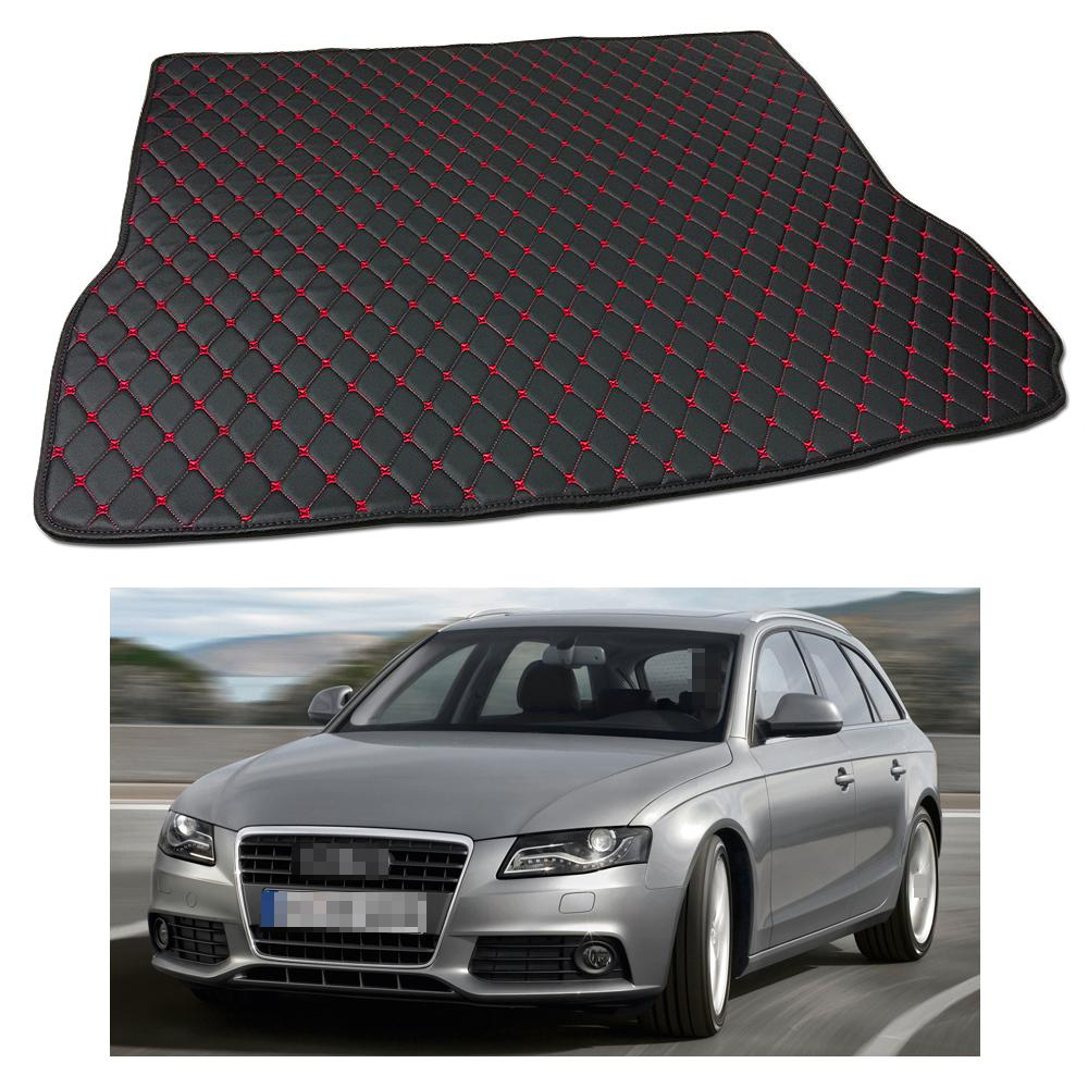 New Anti Scrape Leather Car Trunk Mat Carpet Fit For Audi A4 Avant 2009 2010 2011 2012