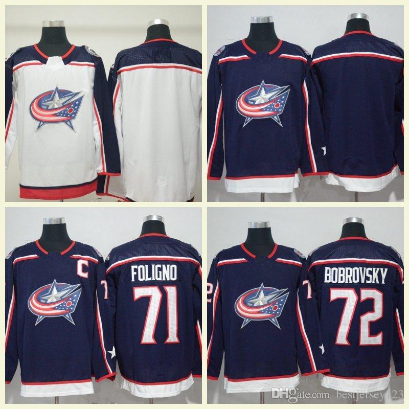 cd7c024fe 2019 Columbus Blue Jackets Hockey h Jones 9 Artemi Panarin 17 Brandon  Dubinsky 13 Cam Atkinson 71 Nick Foligno 72 Sergei Bobrovsky Jersey From  Bestjersey123 ...