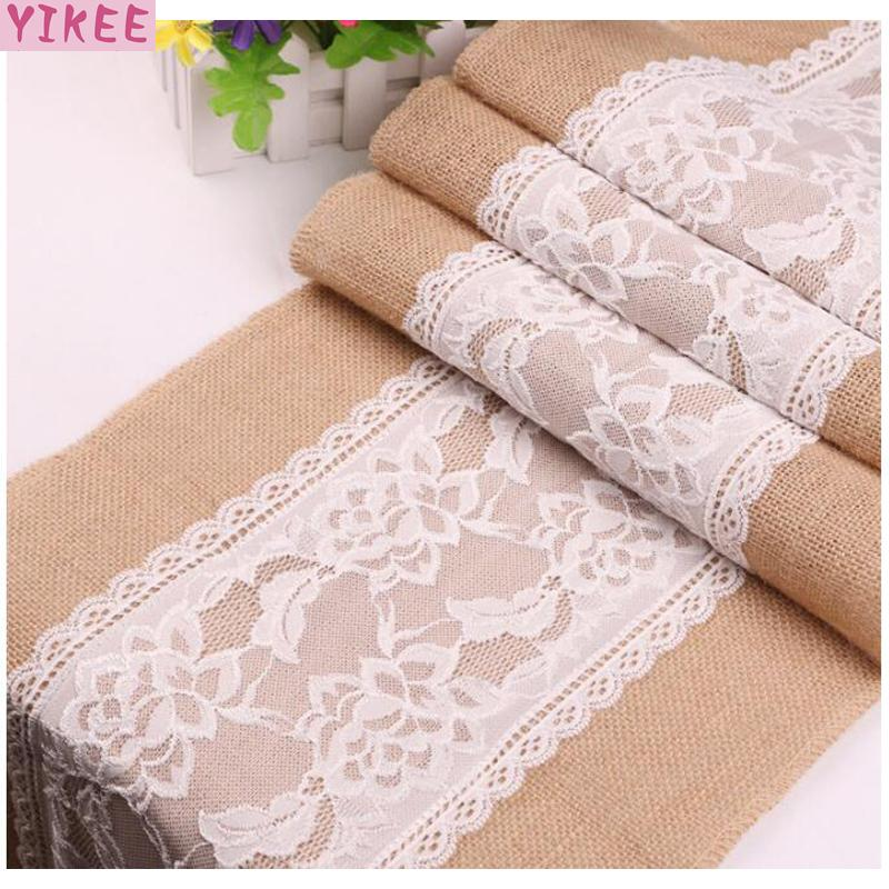 12x110 inch 100 pure linen table runner lace modern table runner