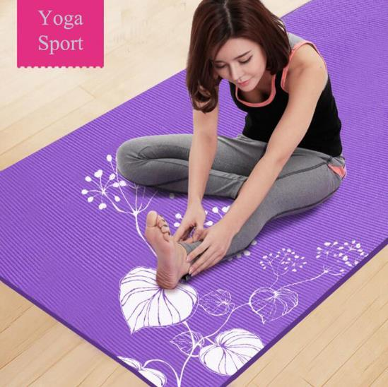 2018 New Arrival PVC Material Yoga Mat Pad Non-Slip Lose Weight Exercise Fitness Folding Gymnastics Esterilla Print Floor Mat