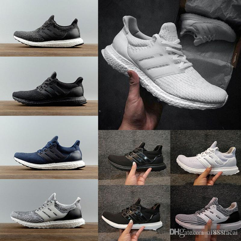2018 new High Quality Ultraboost 3.0 4.0 Uncaged Run Shoes Men Women Ultra Boost 3.0 III Primeknit Runs White Black Athletic Shoes Size36-47 2014 unisex cheap online YvBK9tKvEM