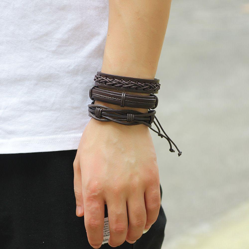 MJARTORIA /Multilayers Charm Bracelets Jewelrty Punk Rock Male Bracelets Fit Club Party Fashion Bracelets & Bangles