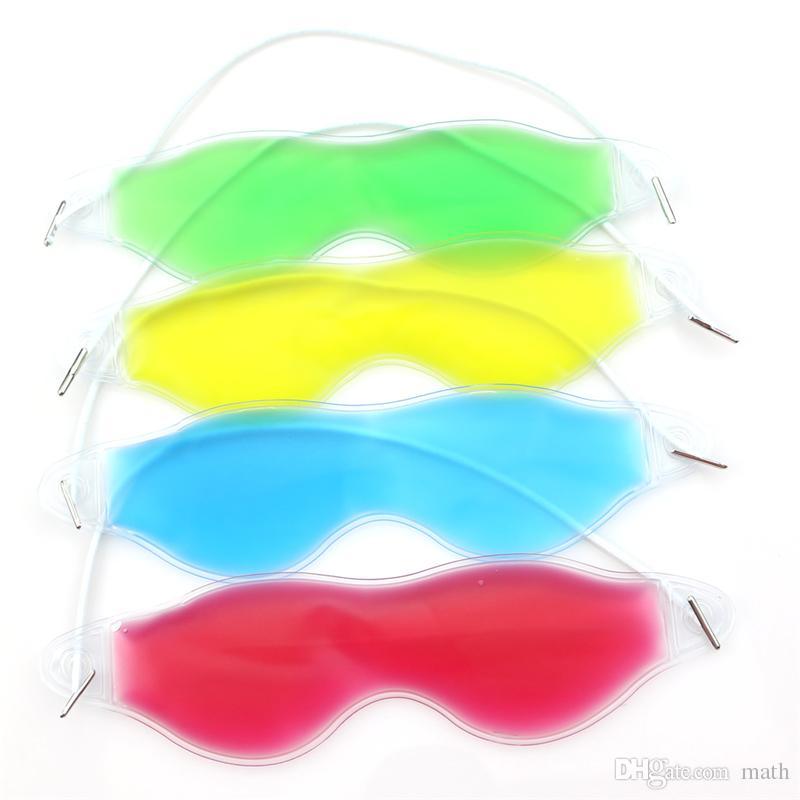 Máscara de Olho de gelo Sombreamento Verão Goggles Óculos Aliviar A Fadiga do Olho Remover Olho Escuro Gel de Olho Gel Pack Dormir Máscaras CCA8670