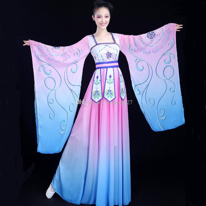 57c50714ad4 Chinese folk dance fairy costume women s classical hanfu carnival fancy dress  traditional oriental clothing ancient royal Stage Dance wear