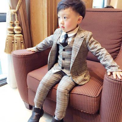 502adc33b 2018 Lattice Kids Blazer Baby Boys Suit Jackets Formal Coat+ Pants+vest Boy  Suits Formal For Wedding Chlidren Clothing Online with $53.72/Piece on ...