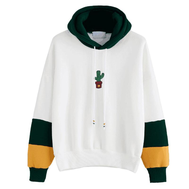 1e4bd82d07c 2019 Jersey Women Harajuku Autumn Winter Sweatshirts Woman Cotton Loose  Hooded Sweatshirt Long Sleeved Printed Pullover Top Blusas Discount From  Liandee