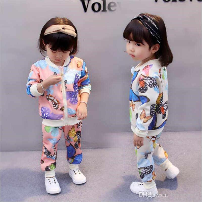 9045c619f4cc Kids Sets Children Hoodies And Pant 1-4T Baby Girls Sets Kids ...
