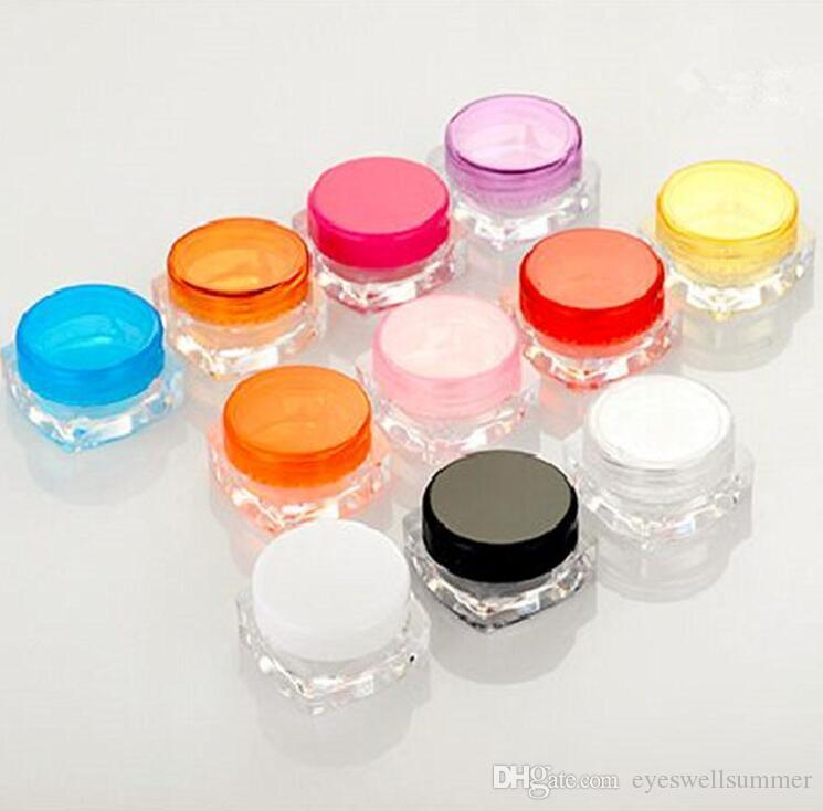 الجيل الثالث 3G البسيطة سفر البلاستيك إعادة الملء مستحضرات التجميل كريم جرة عينة عرض مربع كريم زجاجة حاويات المواد PS