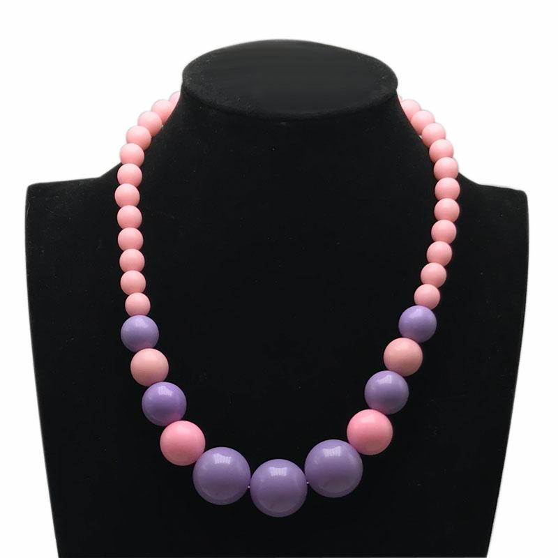 Moda encantador collar de perlas collar corto gargantillas para niños niñas joyería para niños 40 cm 16 pulgadas es dulces