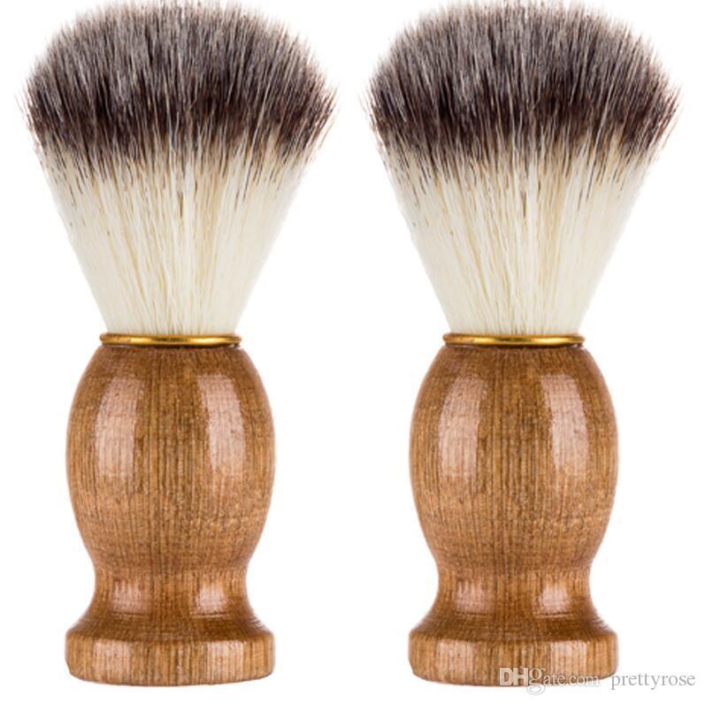 Männer Bart Pinsel synthetische bristl Männer Rasierpinsel Barber Salon Männer Gesichts Bart Reinigung Werkzeug Make-up Pinsel