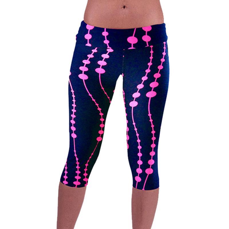 NIBESSER Women Casual Capri Pants Fashion Printed Skinny Trousers Sportswomen Joggers Hip Hop Bottoms Pants Z30