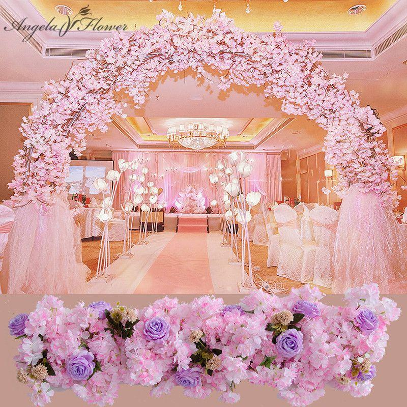 Wedding Stage Flower Decoration: 2019 Luxury 1M Custom Wedding Decor Prop Artificial Flower