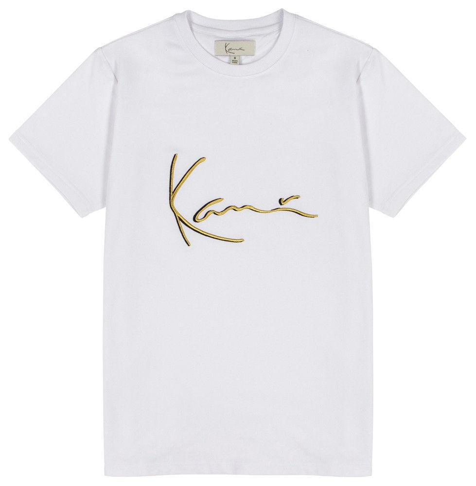818839b8d KARL KANI ICONIC SIGNATURE T SHIRT WHITE EMBROIDERED TEE MENS 90s FASHION  Funny T Shirts Cheap As T Shirts From Biyue3