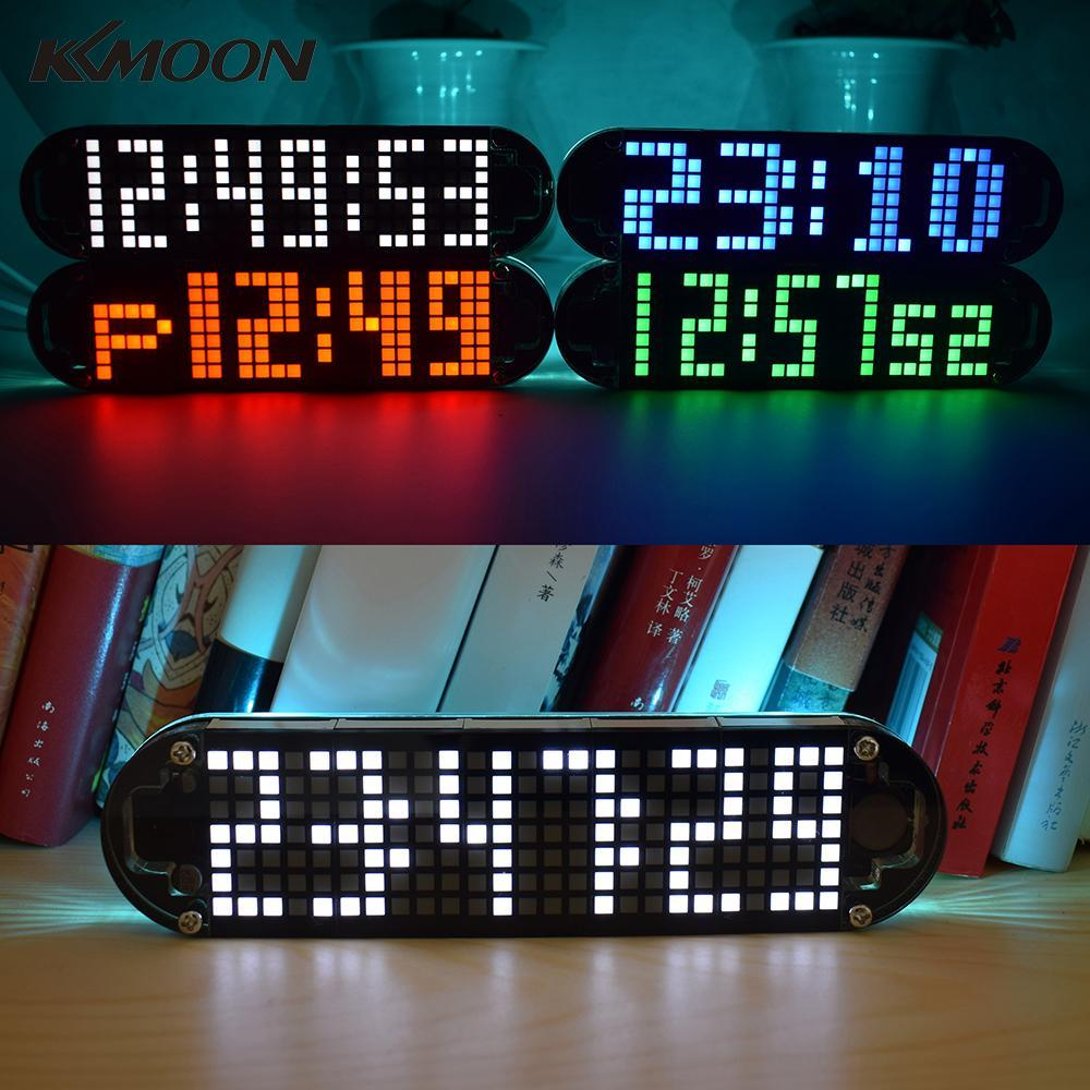 DS3231 LED Alarm Clock Kit High Accuracy DIY Digital Timer temperature  meter with Transparent Case Date Time Display