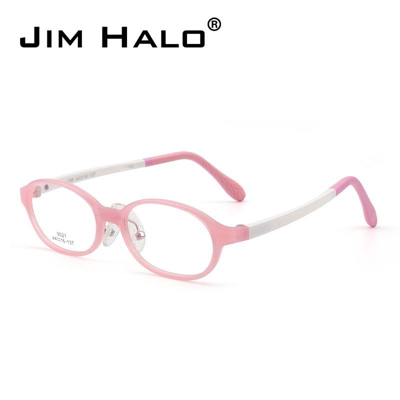 e303543f2 Compre Jim Halo Crianças Adolescentes Óculos Ópticos De Alta Qualidade TR  Quadro Óculos Meninas Meninos Não Prescrição Clara Lente De Jimoptical, ...