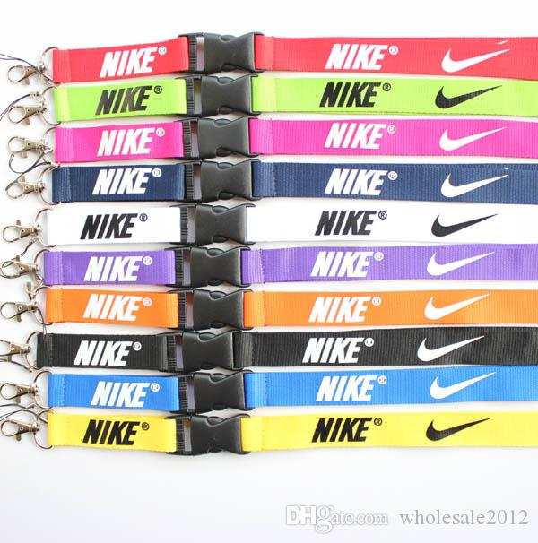 New Free shipping 10pcs sport Clothes logo Lanyard ID Badge Keychain Holder chain iPod Camera Neck Strap Detachable Multicolor #9104
