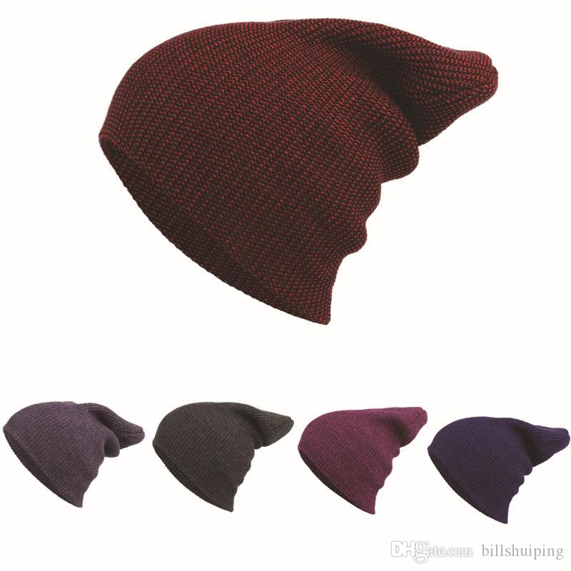 238b0a15 Hot Selling Women Men Adult Knitted Beanie Hat Pure Color Design For Winter  Warm Fashion Accessories Outdoor Skiing Caps Beanies For Men Trucker Caps  From ...