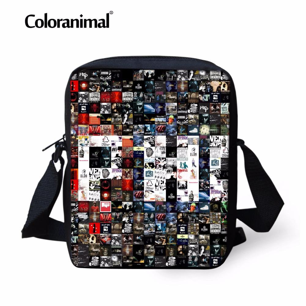 0dee30fbe3 Coloranimal 3D Print Primary Small Messenger Bags Hop Hip Picture Puzzle  Men s Daily Cross Body Bags Children Kids Shoulder Bag Wholesale Purses  Designer ...