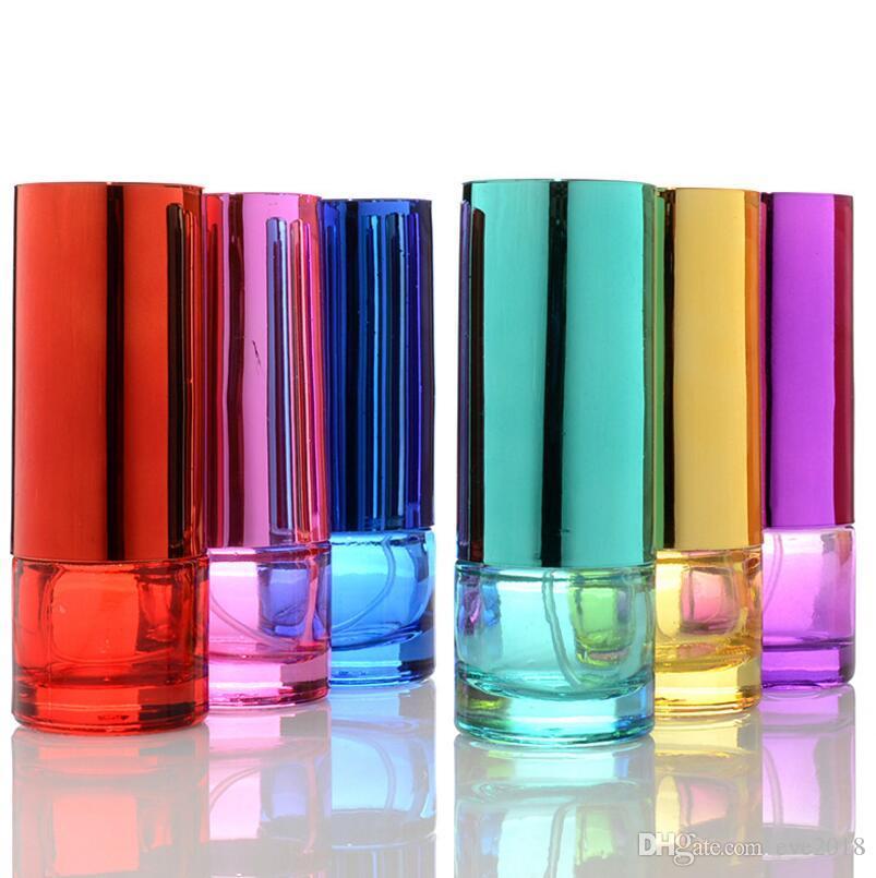 20 мл красочные портативный стеклянный многоразового флакон духов с спрей пустой косметический парфюм чехол с распылителем для путешествий LX1211